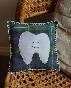 Arts And Crafts, Diy Crafts, Niece And Nephew, Tooth, Stitching, Coin Purse, Throw Pillows, Embroidery, Money