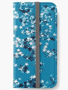 """Blue Ocean Glitter Stars #1 #shiny #decor #art"" iPhone Wallets by anitabellajantz | Redbubble"