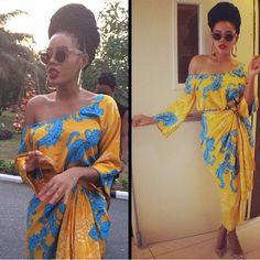 Angela Simmons In Nigerian iro and buba