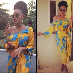 Angela Simmons In Nigerian iro and buba  #silk #chiffon #naija #fabric #honeydropartistry #african #iro #buba #bellanaija #asoebi