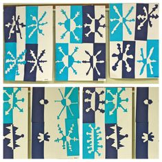 4th grade positive/negative snowflakes. from the colors of my day blog.