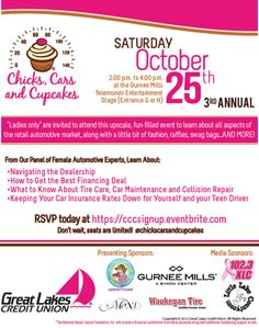 Chicks, Cars and Cupcakes Event - National Breast Cancer Foundation #CarCare #Cupcakes #Auto and #Fashion http://www.glcu.org/ccc