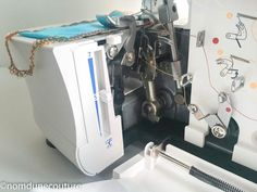The Lidl Element 1450 ol serger on the test bench Tour Eiffel, Sewing Projects, Bench, Point, Fabric, Diy, Chevrette, Inspirer, Gardens