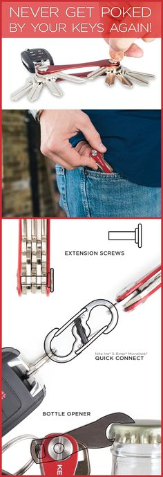 Check out this new way to life hack your key ring! KeySmart keeps your keys secure the same way a pocket knife or multi-tool would, and has a bunch of cool accessories so you can customize it to fit your style and needs. It's a perfect way to keep your every day carry minimal and stylish! Use code ORGANIZE15 in the next 30 days for 15% off!