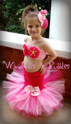 Little Mermaid inspired Tutu Dress by WindmillsandBubbles on Etsy