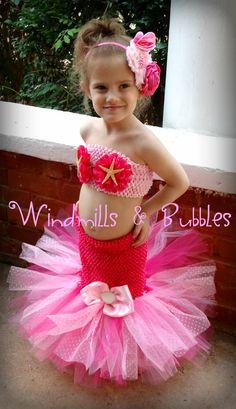 Little Mermaid inspired Tutu Dress by WindmillsandBubbles on Etsy