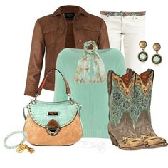Blue bird boots, created by tchantx on Polyvore