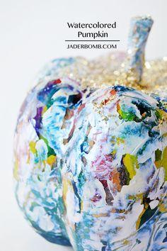 DIY: Watercolor and Paint Pumpkin