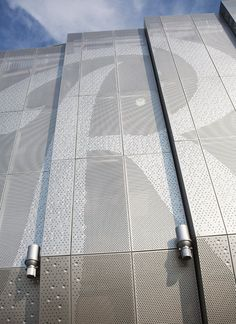 The Kansas City Royals' logo in McNICHOLS® Perforated Metal at Kauffman Stadium.