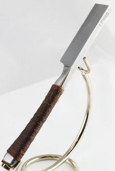 Charlie Lewis 6/8+ Fixed Blade Asymmetrical Grind in Oak Display