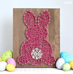 Easter String Art: Free Bunny Template - Consumer Crafts