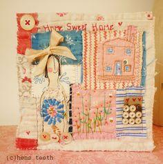 "Textile Collage 6 x 6"""