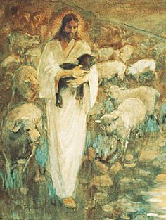 The Black Sheep is what I named this picture.& of the Lost Lamb& by Minerva Teichert this painting hangs in the Manhattan New York Temple ?I am the good shepherd: the good shepherd giveth his life for the sheep? Images Of Christ, Pictures Of Christ, Religious Pictures, Religious Art, Catholic Art, Lord Is My Shepherd, The Good Shepherd, Lds Art, Bible Art