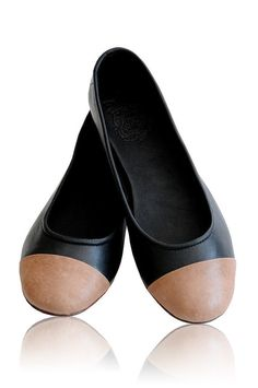 Two tone leather ballet flats by BaliELF