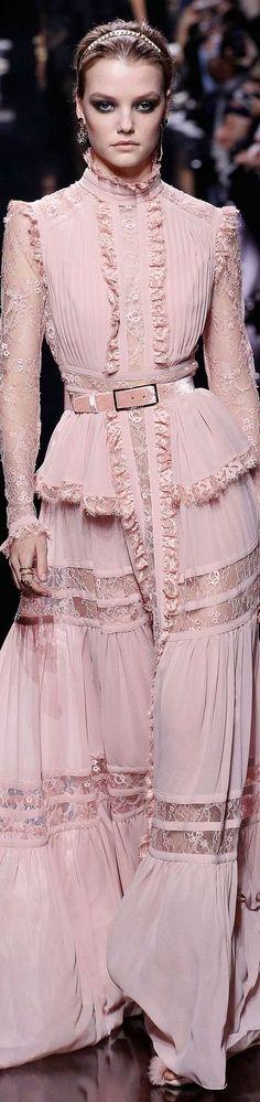 pink ruffle & lace