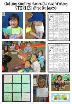 Write On: Getting Kids Started Writing STORIES in Kindergarten!  (Free Rubric!)