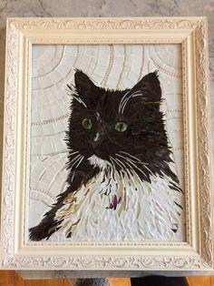 Mooch, a mosaic pet portrait by Graycatmosaic on Etsy.com