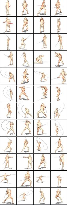 Fencing Poses (Male)