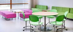 Finnish interior designer created beautiful furniture for classrooms.