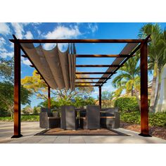 Shop a great selection of Verona W x D Metal Pergola Canopy Paragon-Outdoor. Find new offer and Similar products for Verona W x D Metal Pergola Canopy Paragon-Outdoor. Diy Pergola, Pergola Decorations, Retractable Pergola, Wood Pergola, Pergola Canopy, Pergola Swing, Deck With Pergola, Covered Pergola, Outdoor Pergola