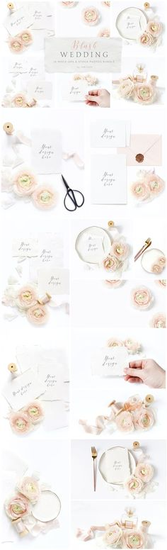 Blush Wedding mockup