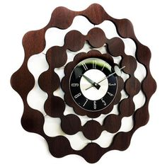 George Nelson Style Mid-century Modern Wooden Wall Clock - Overstock™ Shopping - Great Deals on Clocks