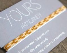Set of 4 Miyuki beaded bracelets handmade   Gold plated