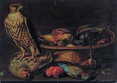Nature morte aux oiseaux et au faucon. Par Clara Peeters (Anvers, 1594 - vers 1640). Photo Kohn
