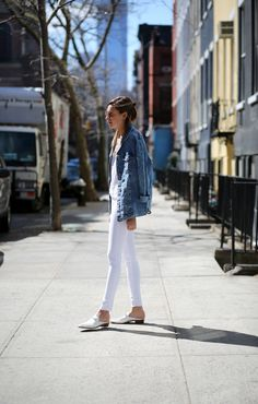 over-sized denim jacket. http://www.luvocracy.com/christine/recommendations/oversize-denim-jacket--2