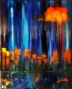 Abstract landscape  Oil on canvas  40*50 cm   For sale 200$