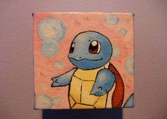 4 x 4 Custom Pokemon Painting by SlowpokePainting on Etsy Love Canvas Painting, Small Canvas Paintings, Small Canvas Art, Mini Canvas Art, Diy Canvas, Painting & Drawing, Canvas Ideas, Pokemon Painting, Aesthetic Painting