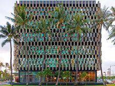 Fachada de um edifício no Hawaii