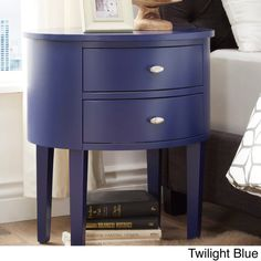 INSPIRE Q Aldine 2-drawer Oval Wood Accent Table