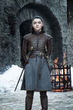 Arya Stark of Winterfell, game of thrones season 7 Maisie Williams Arya Stark of Winterfell, game of Costumes Game Of Thrones, Arte Game Of Thrones, Game Of Thrones Arya, Game Of Thrones Funny, Game Of Thrones Episodes, Game Of Thrones Characters, Maisie Williams, Arya Stark Season 7, Sansa Stark