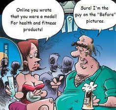 Funny quotes, jokes, memes, photos, and good humor! Cartoon Jokes, Funny Cartoons, Funny Cats, Funny Jokes, Stupid Jokes, Cartoon Art, Zumba Fitness, Health Fitness, Fitness Fun