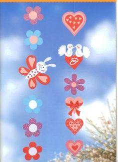 Ablakom: Tavaszi virágos ablakdíszek...