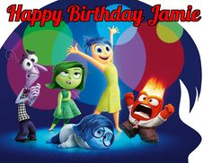 Inside Out Joy Sadness Disgust Pixar Edible Image Photo Cake Topper Sheet Personalized Custom Customized Birthday Party - 1/4 Sheet - 75614 >>> Don't get left behind, see this great product : Baking tools