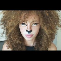 awesome ! #curly #hair #lion #makeup I wanna do this when my hair is of age :)