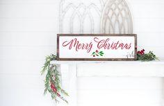 Merry Christmas wood sign | christmas farmhouse sign | rustic home decor | Wall Decor | christmas decor | rustic christmas decor | wood sign
