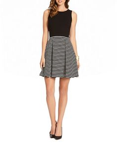Brands | Party/Cocktail | Contrast Stripe Dress | Lord and Taylor