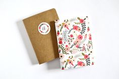 Personalized Notebook Set of 2  Kraft by PrintStitchAndPaste, $10.50