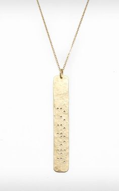 Sisters Braille Pendant Necklace - for my sisters from other misters...