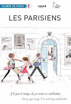Affiche : 40 x 60 cm. En vente sur : http://www.lesparisiens.paris.fr