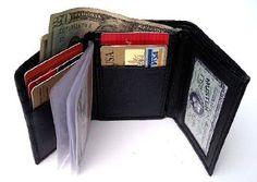 Ladies Black Leather Lambskin Wallet W...