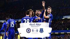Tumbangkan Everton 5-0, Chelsea Jatuhkan City dari Puncak Klasemen