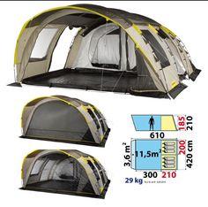 Toile de tente Montage 20 min2 chambres