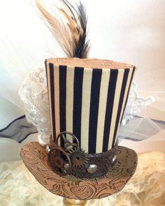 Mini top hat - Steampunk in stripes