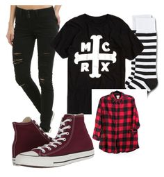 """School"" by crazymadhatter03 on Polyvore featuring Hot Topic, Dr. Martens and Converse"