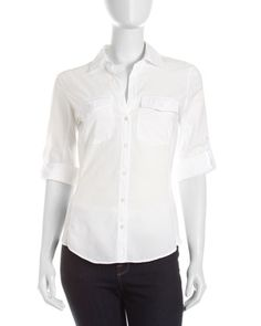 Poplin Button-Down Shirt by James Perse at Last Call by Neiman Marcus.
