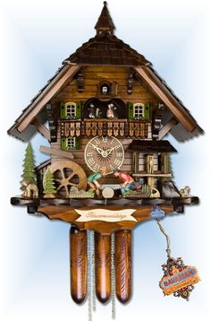 This is a cuckoo clock with a traditional Black Forest Saw Mill. Description from galleon.ph. I searched for this on bing.com/images